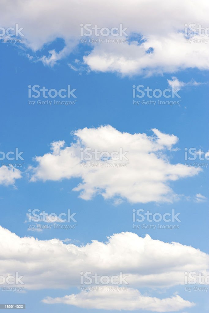 Clear Blue Sky with Clouds Full Frame stock photo