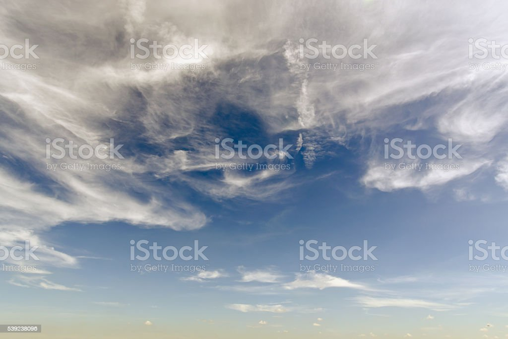Clear blue sky with white cloud royalty-free stock photo