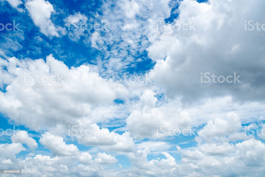 clear blue sky,clouds with background royalty-free stock photo
