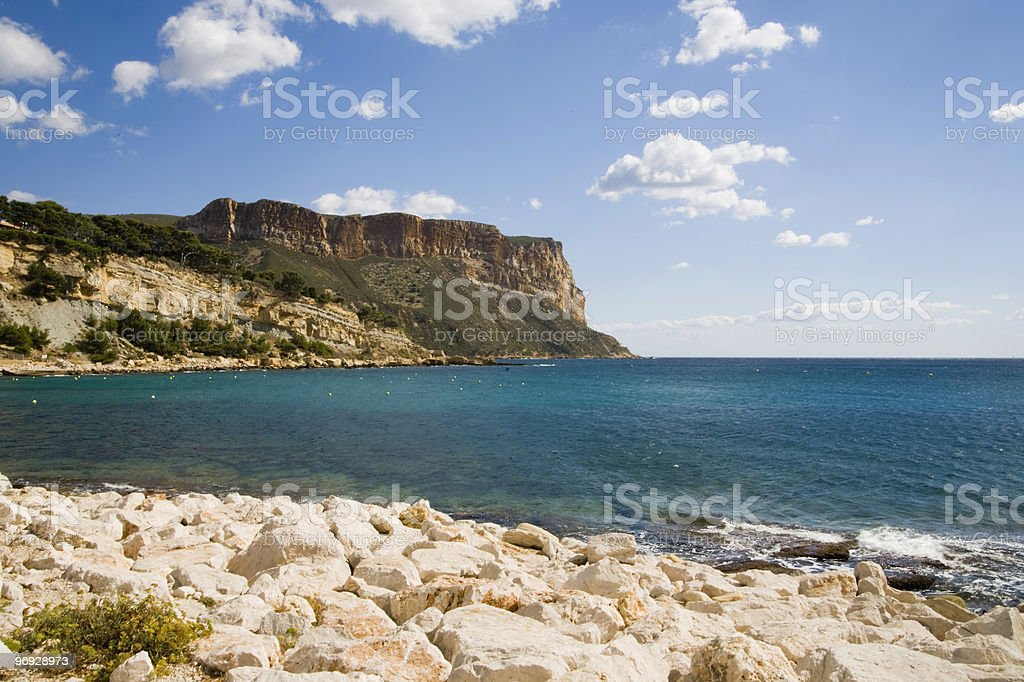 Clear, Blue Waters of Cassis, France royalty-free stock photo
