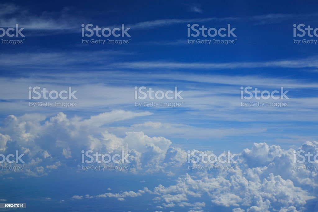 Very clear of cloudy blue sky, Abstract background, blue sky...