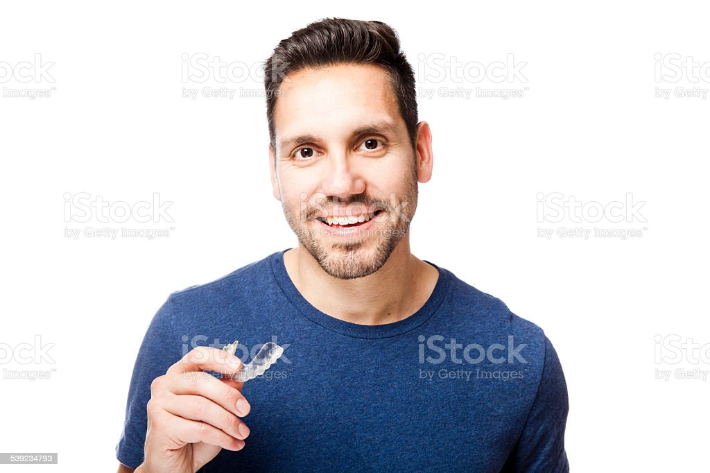 Clear Braces Man royalty-free stock photo