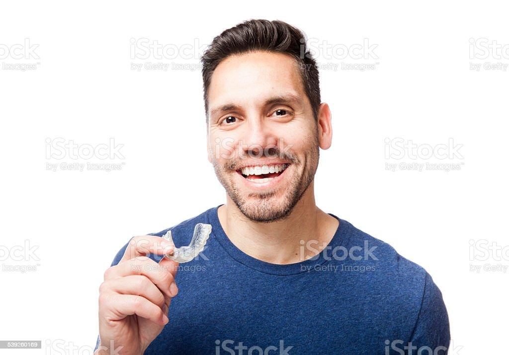 Clear Zahnspange - Lizenzfrei Erwachsene Person Stock-Foto