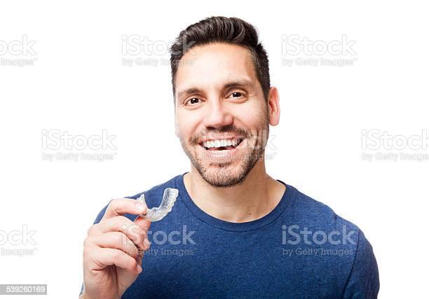 Clear Zahnspange Stockfoto und mehr Bilder von Erwachsene Person