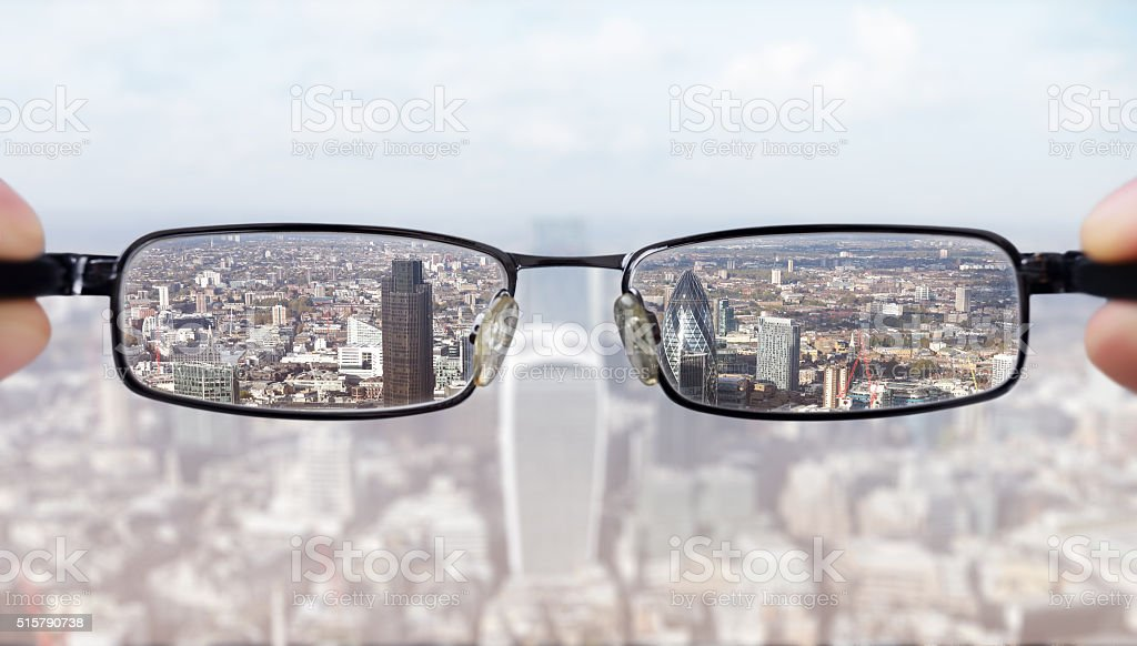 Clear business vision stock photo
