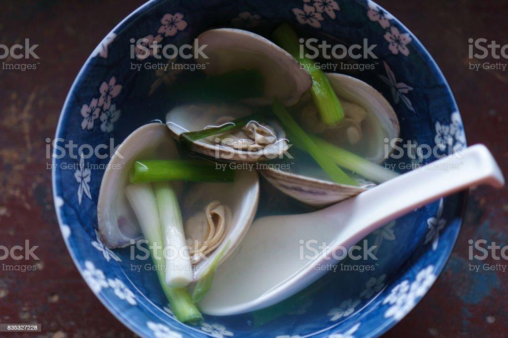 Clear Clam Soup / Jogaetang / Jokaetang stock photo