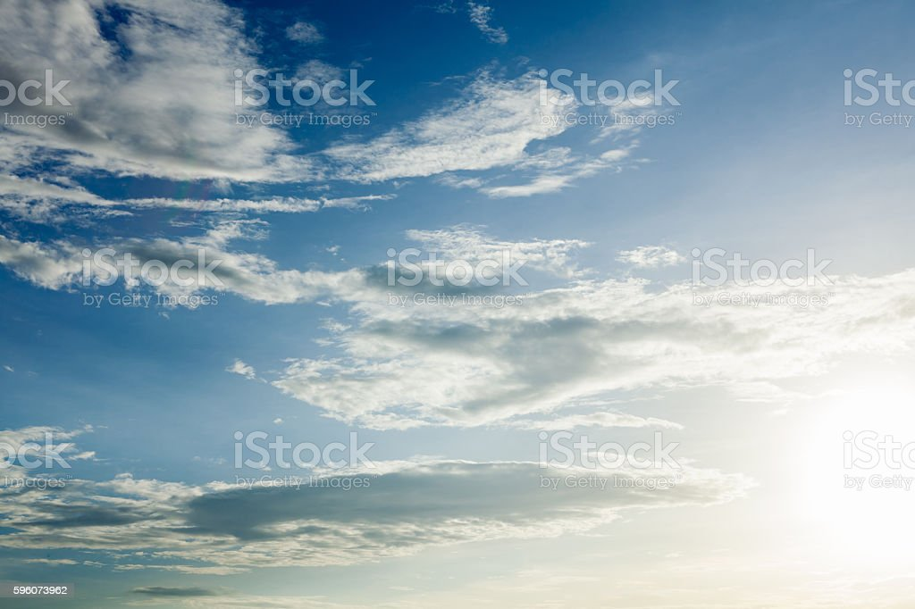 Clear clouds in blue sky on day light. royalty-free stock photo