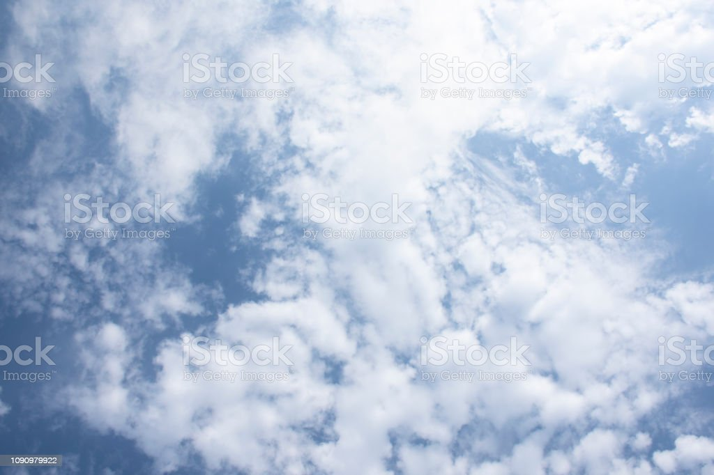 clear clouds on sky - Sunny Day stock photo
