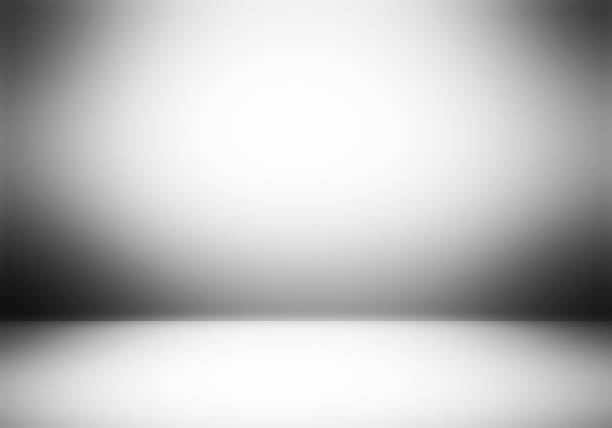 chiaro sfondo studio fotografo vuota. - vignettatura foto e immagini stock