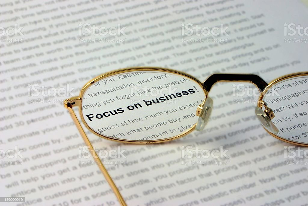 Clear focus stock photo
