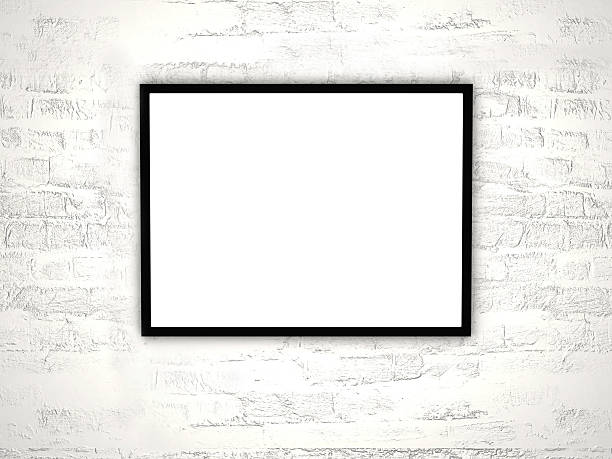clear frame clear frame over detailed wall black border stock pictures, royalty-free photos & images