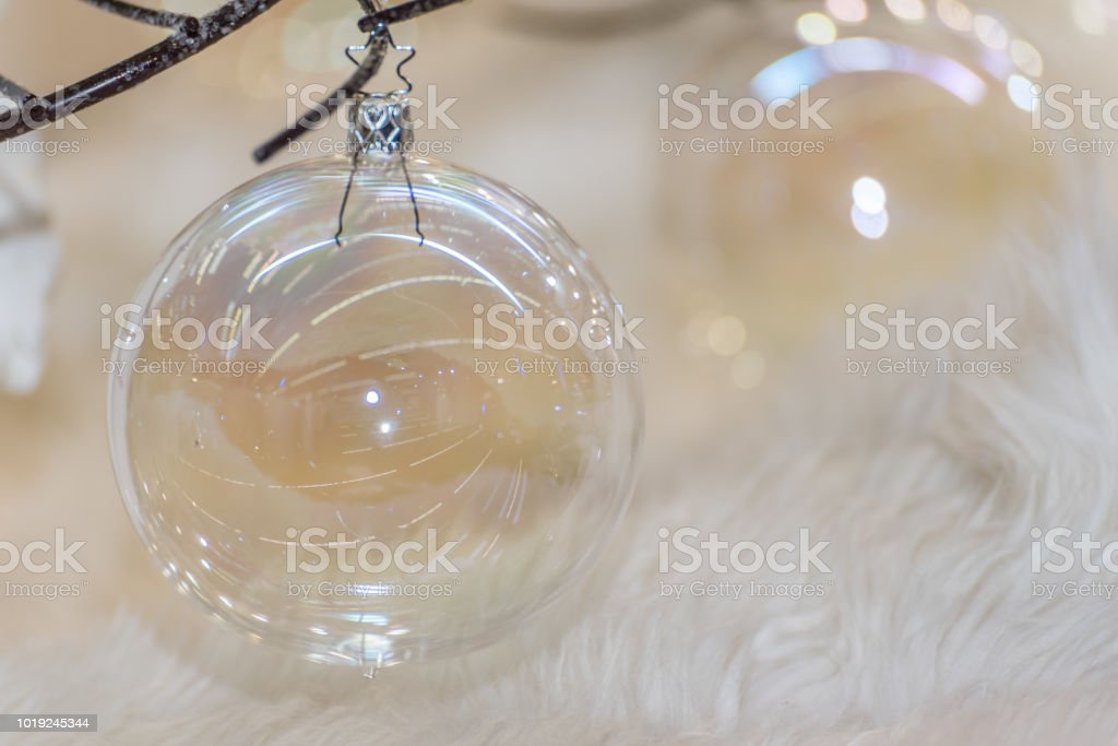 Clear Glass Bright And Shining Christmas Ornaments Stock Photo More Pictures Of 2018