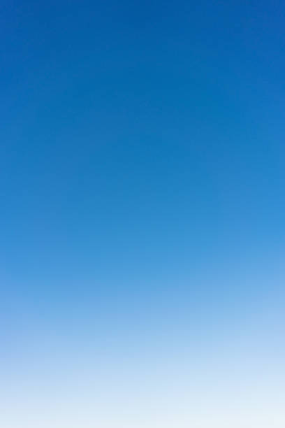 Clear graduated sky background stock photo