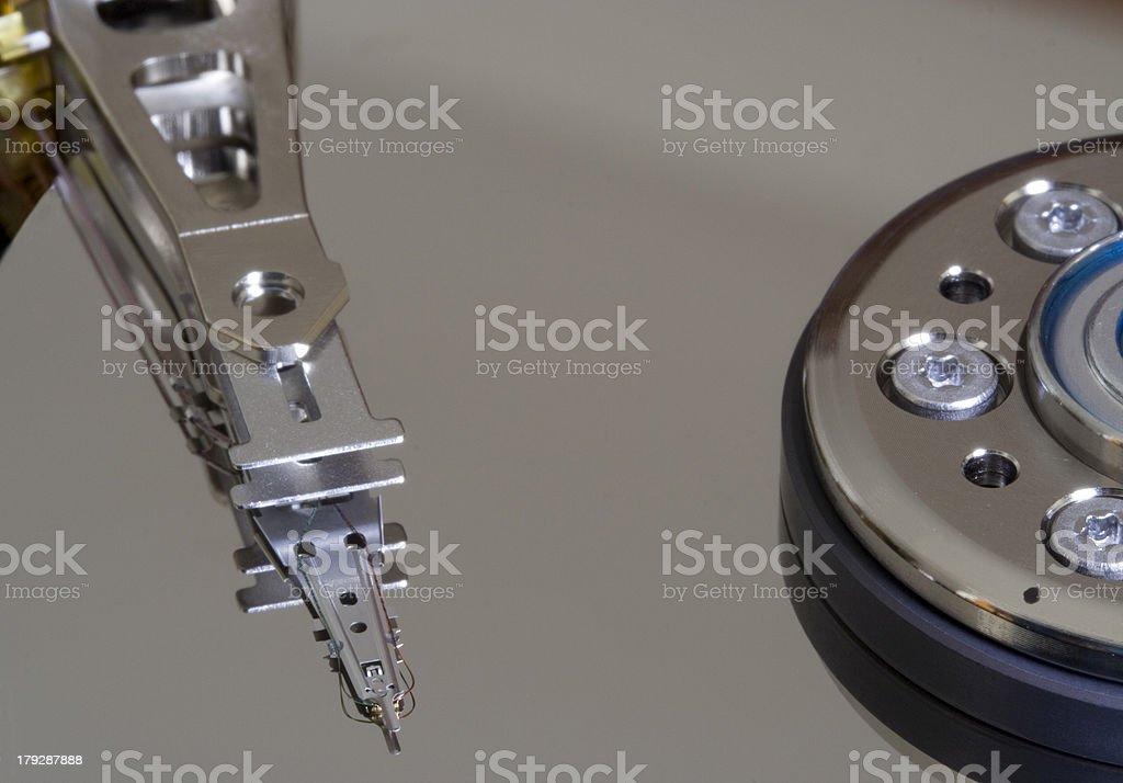 Clear Hard disk royalty-free stock photo