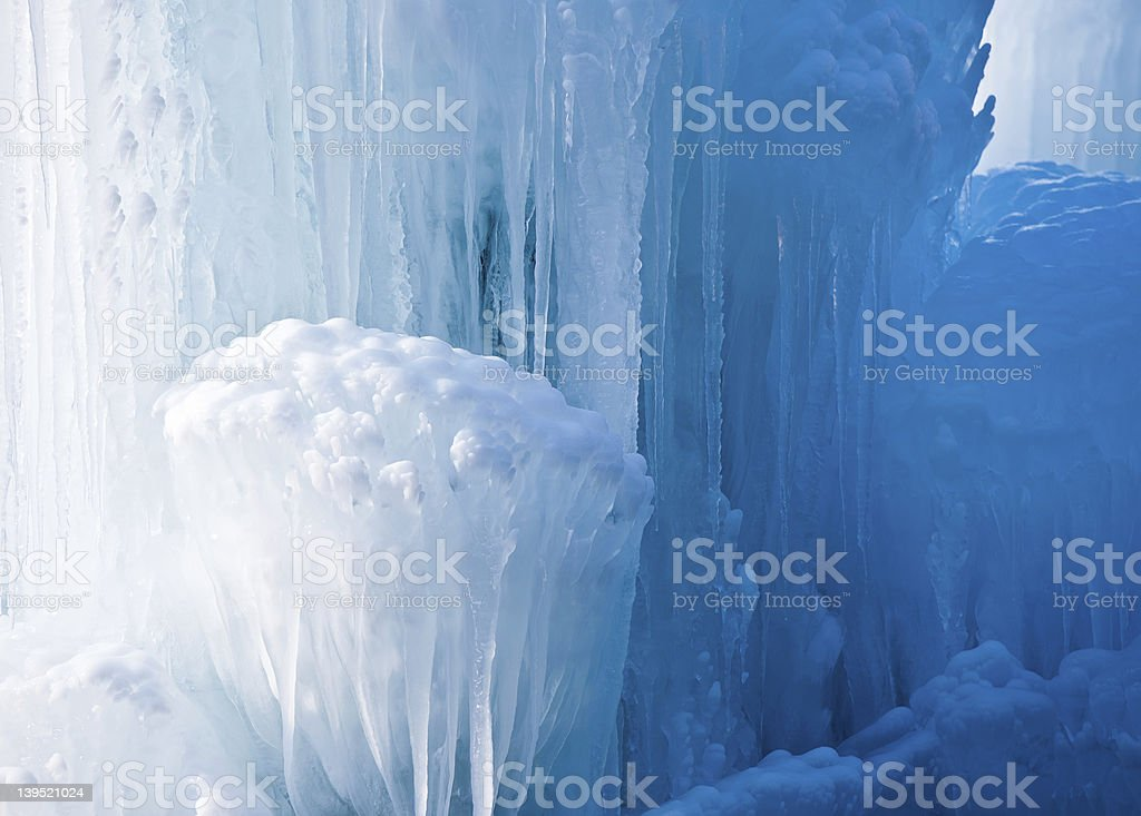 Clear Icicle Formation stock photo