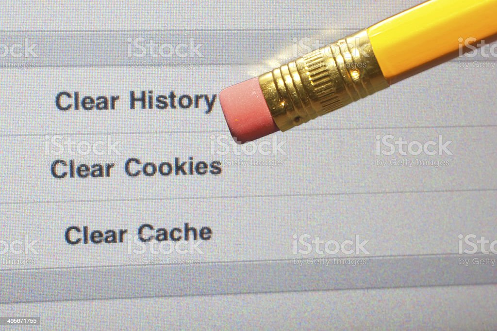 Clear Internet History stock photo