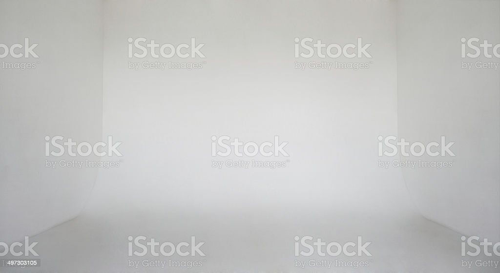 Clear leichte weiße Wand leer Foto studio cyclorama background – Foto