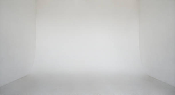 Clear light white wall empty photo studio cyclorama background stock photo