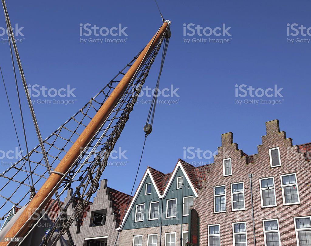 Clear October day in Volendam. royalty-free stock photo