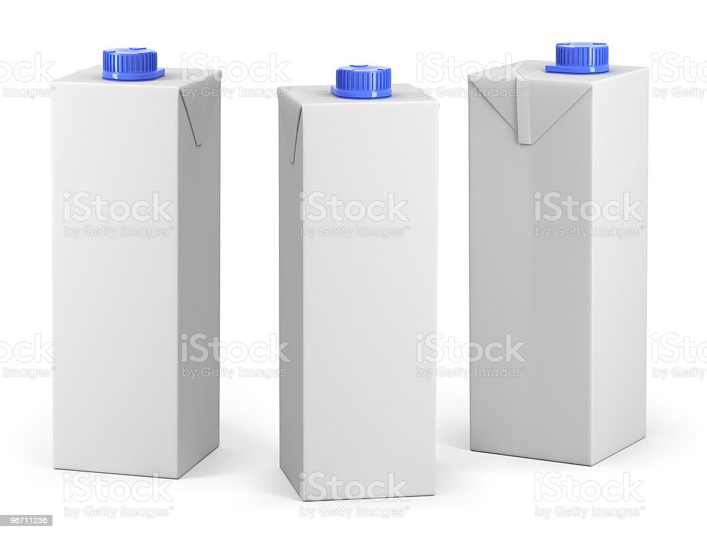 Clear pakage model royalty-free stock photo
