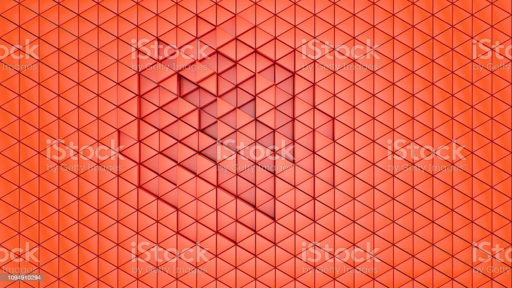 Klares Muster Abstrakt Wand Hintergrund Dreieck Farbe