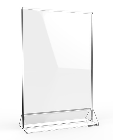 Clear Plastic And Acrylic Table Talkers Promotional Upright Menu Table Tent Top Sign Holder 11x8 Table