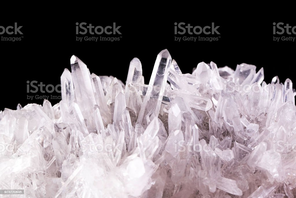 Clear quratz abstract background stock photo