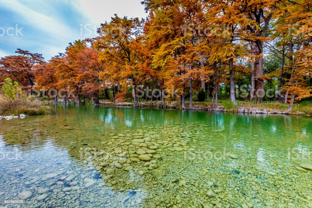 Clear River at Garner State Park, Texas stock photo