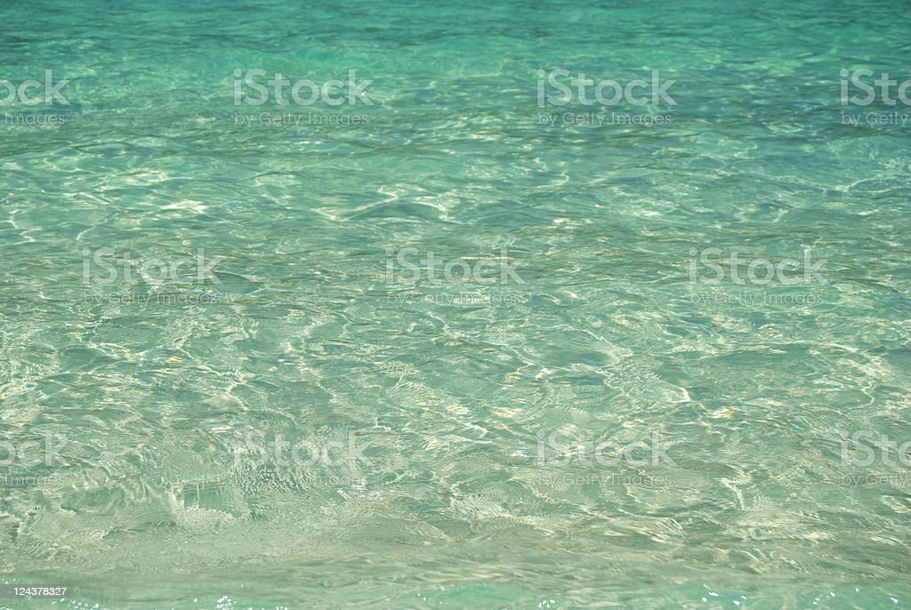 Clear sea water background royalty-free stock photo