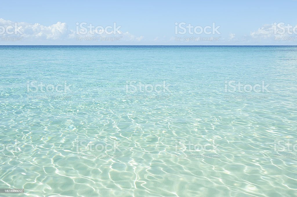 Clear sea water stock photo