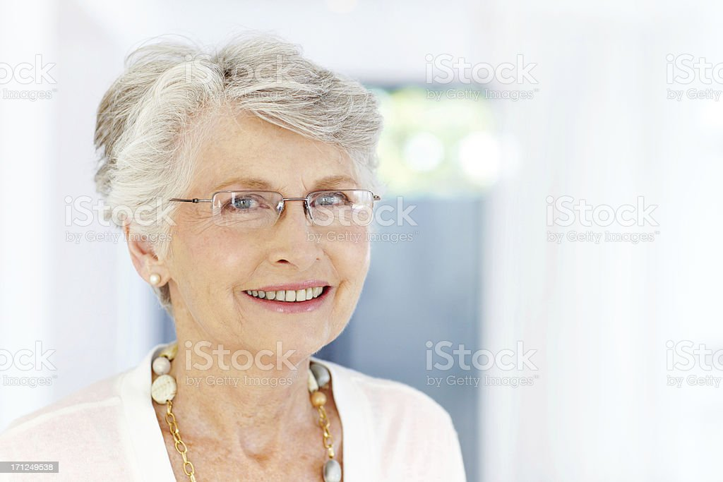 Clear, sharp eyesight - Optometry/Seniors royalty-free stock photo