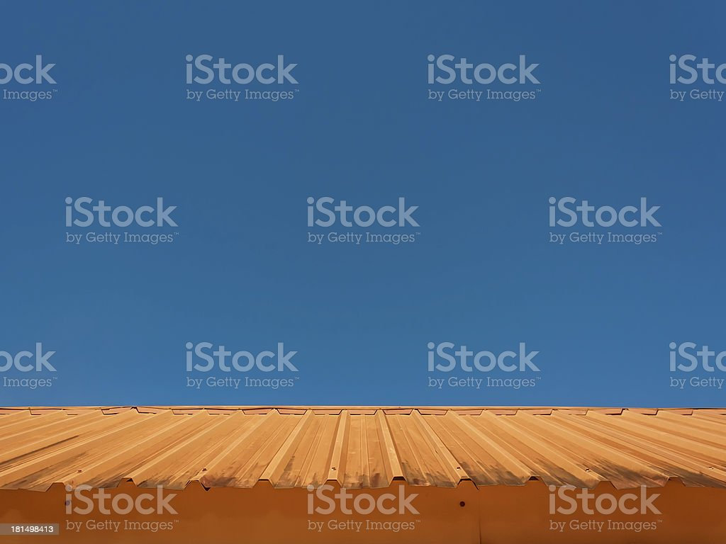 Clear sky and roof. royalty-free stock photo