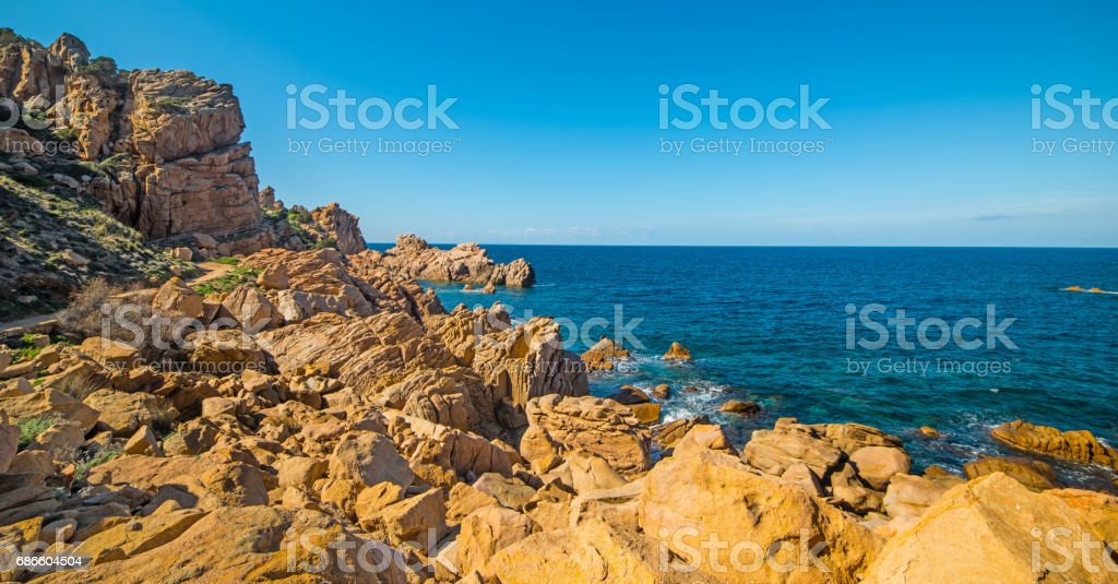 Clear sky over a blue sea 免版稅 stock photo
