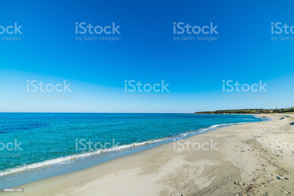 Clear sky over Cea beach royalty-free stock photo