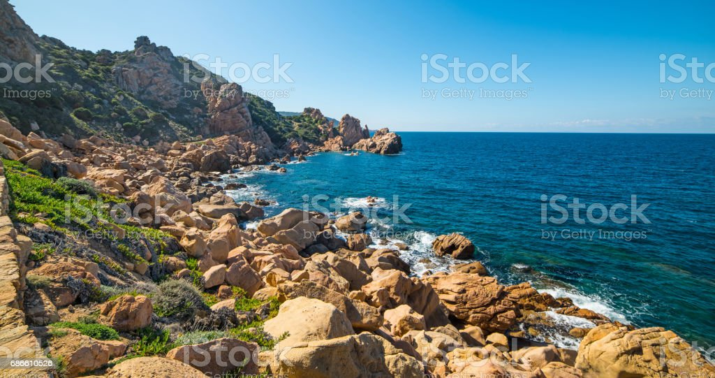Clear sky over the coast royalty-free stock photo