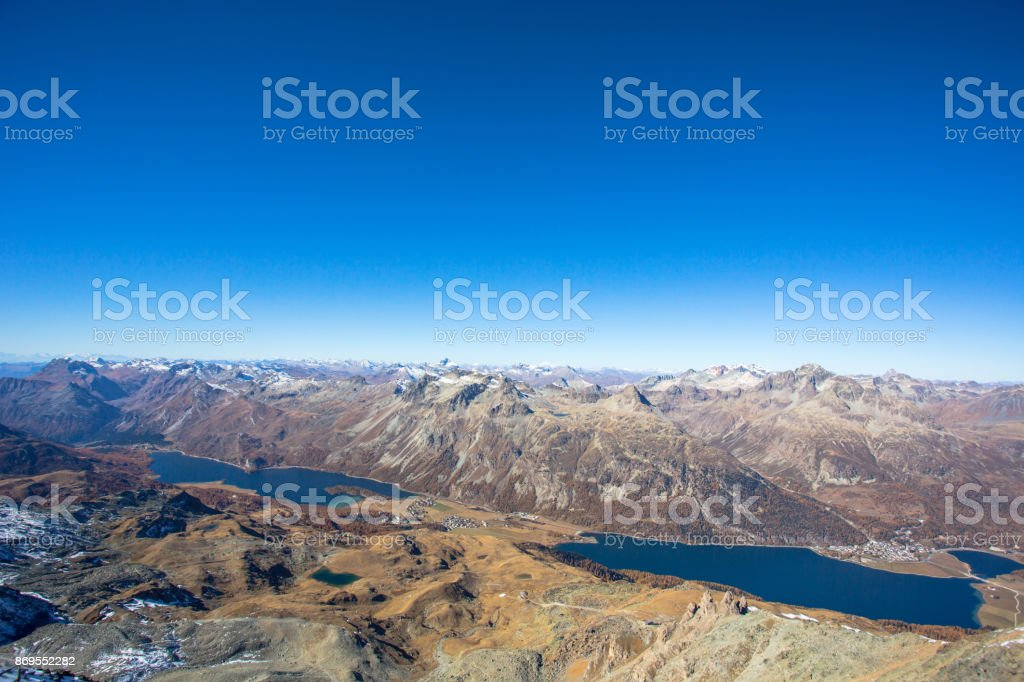 Clear Sky Over The Swiss Eastern Alp stock photo