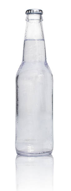 clear soda with reflection stock photo