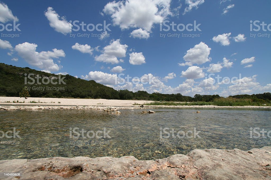 Clear Summer River royalty-free stock photo