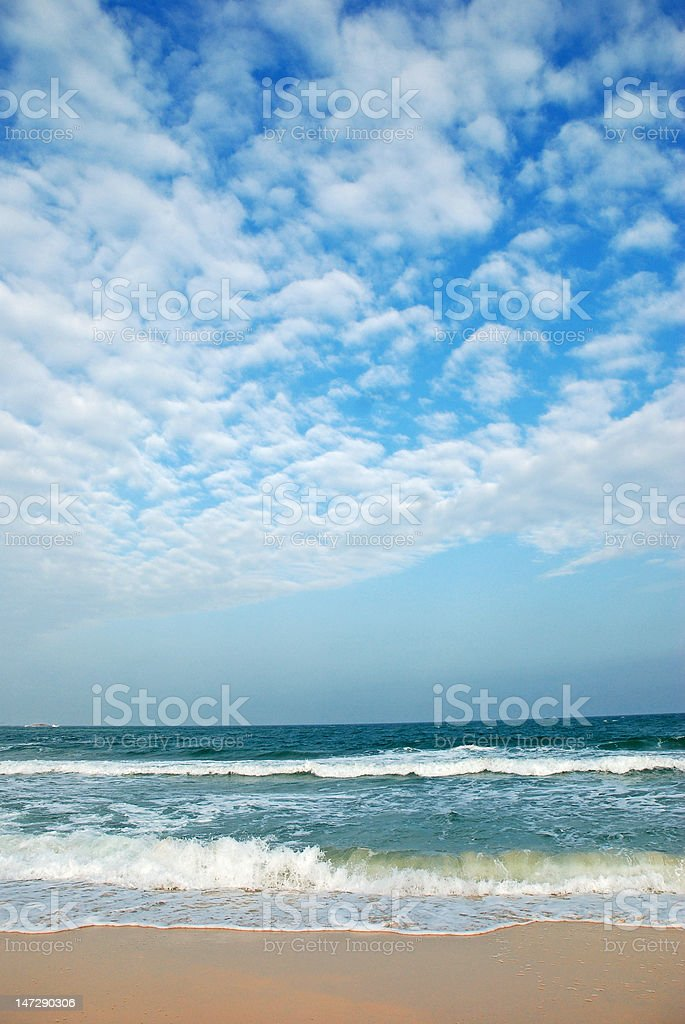 Clear Tropical Beach royalty-free stock photo
