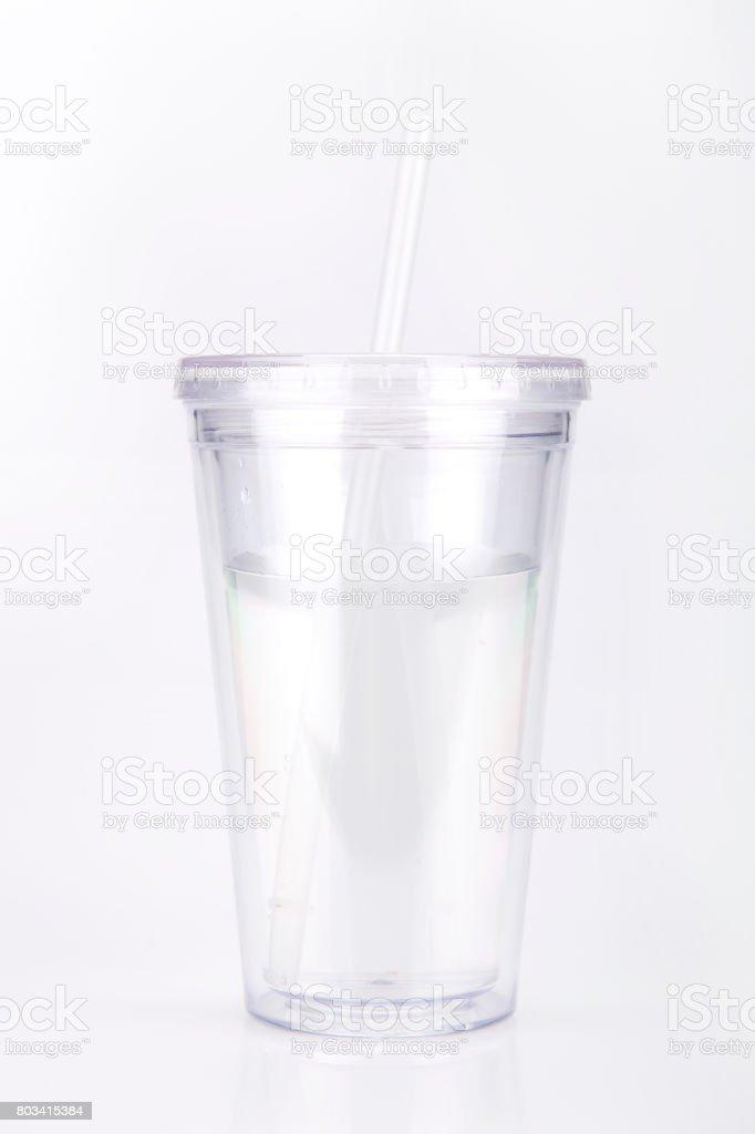 Clear tumbler stock photo