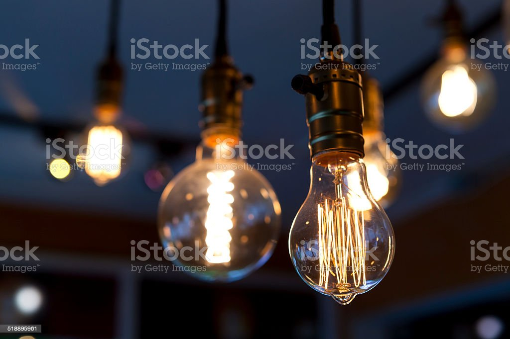 clear tungsten lamps stock photo