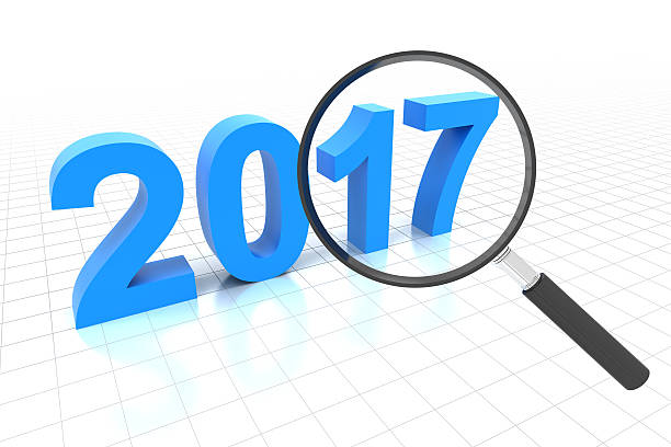 Clear view in year 2017 Clear view in year 2017, 3d render 2017 stock pictures, royalty-free photos & images