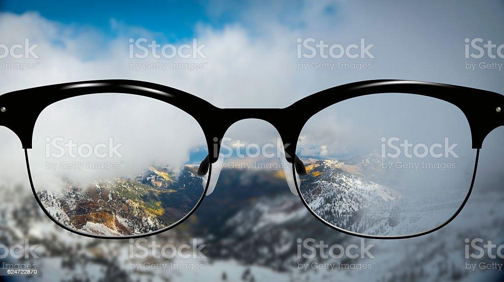 Clear Vision autumn Mountains stock photo