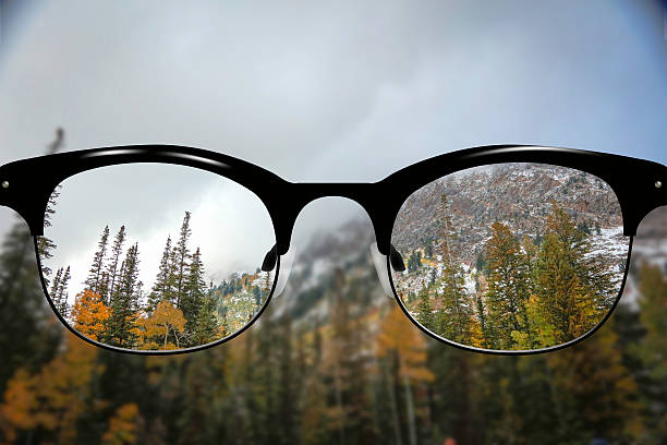 Clear Vision autumn Mountains stock photo