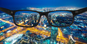 Clear vision / close look of New Dubai city by night