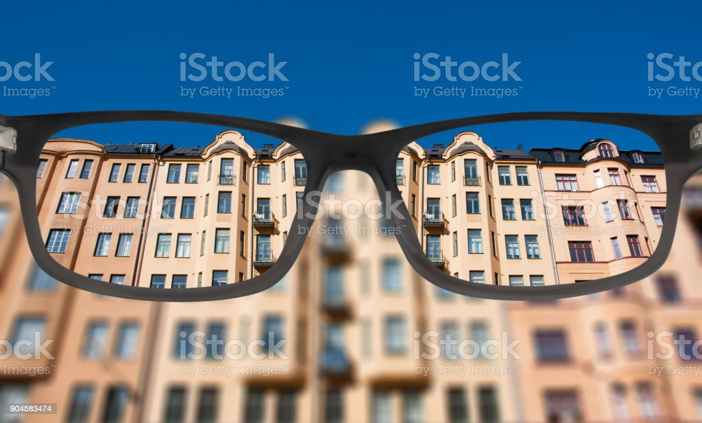 Clear vision of housing market - foto stock