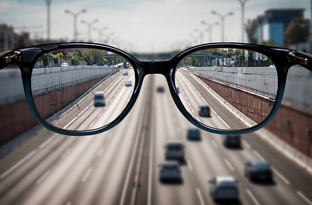 Clear vision through glasses - Photo