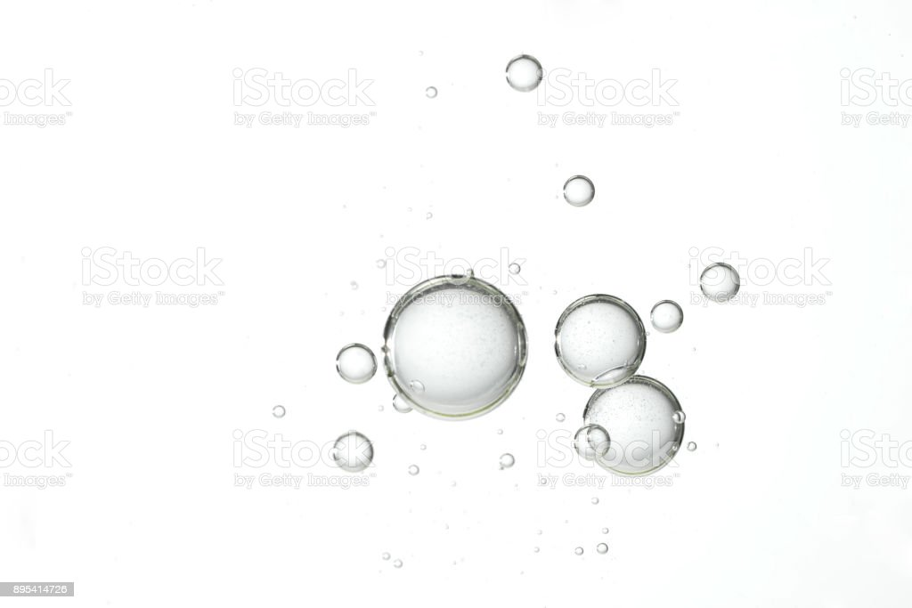 Clear water bubbles stock photo
