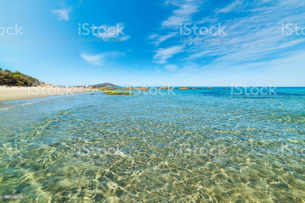 Clear water in Orri beach in springtime - Royalty-free Beach Stock Photo