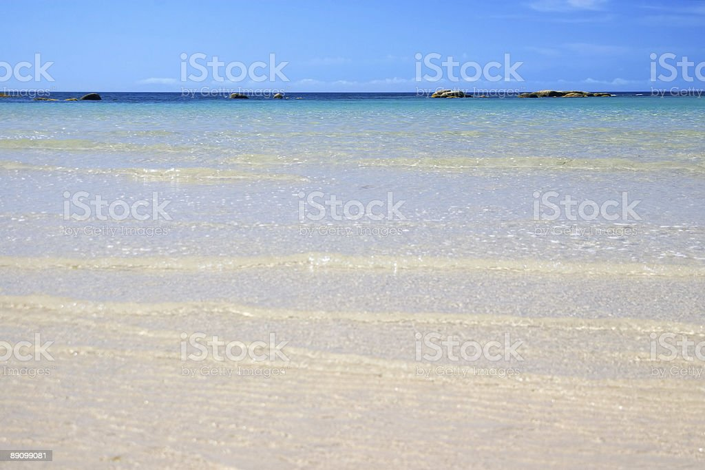 Clear water on perfect white beach, idyllic coastal scene, Australia royalty-free stock photo